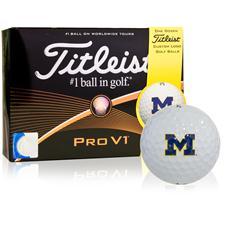 Titleist Michigan Wolverines Pro V1 Collegiate Golf Balls