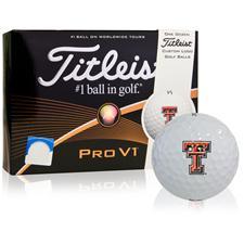 Titleist Pro V1 Collegiate ID-Align Golf Balls - Texas Tech Red Raiders