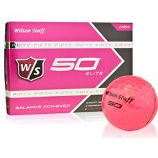 Wilson Staff Fifty Elite Pink Golf Balls - 2015 Model