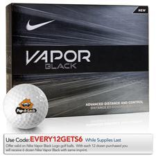 Nike Vapor Black Logo Golf Balls