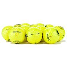 Titleist Logo Overrun DT SoLo Yellow Golf Balls