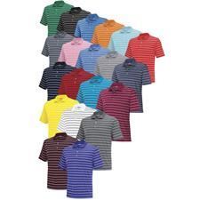 Adidas Custom Logo ClimaLite 2-Color Stripe Polo