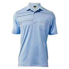 Greg Norman Men's Mini Print Pocket Polo
