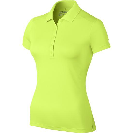 Nike victory custom logo fashion polo for women volt for Custom nike golf shirts