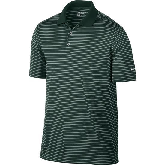 Nike men 39 s victory stripe custom fashion polo pro green for Custom nike golf shirts
