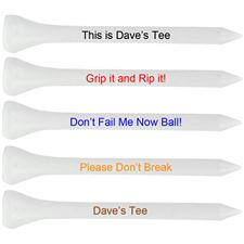 Premium 2 3/4 Inch Personalized Golf Tees
