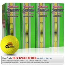 Srixon Custom Logo Soft Feel Tour Yellow Golf Balls