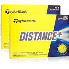 Taylor Made Distance+ Yellow Double Dozen Golf Balls
