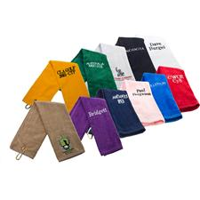 Tri-Fold Overrun Golf Towel