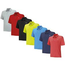 Adidas Men's ClimaCool 3-Stripes Debossed Polo