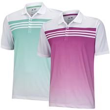 Adidas Men's ClimaCool 3-Stripes Gradient Polo