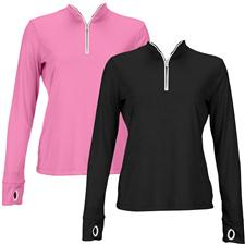 Greg Norman 1/2-Zip Trimmed Performance Pullover for Women