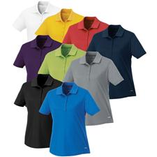 Landmark Custom Logo Edge Polyester Pique Polo for Women
