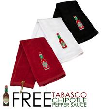 TABASCO Brand Stock Bottle Design Golf Towel