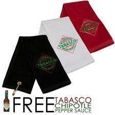 TABASCO Brand Stock Diamond Label Design Golf Towel