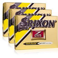 Srixon Z Star 4 Tour Yellow Triple Dozen Golf Balls