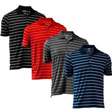 Adidas Custom Logo Puremotion 2-Color Stripe Polo