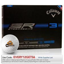 Callaway Golf Custom Logo Speed Regime 3 Golf Balls
