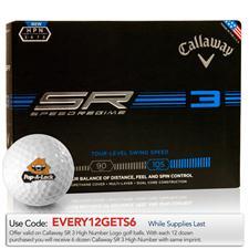 Callaway Golf Custom Logo Speed Regime 3 High Number Golf Balls