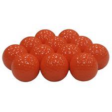Blank Orange Golf Balls
