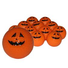 Novelty Neon Orange Pumpkin Golf Balls