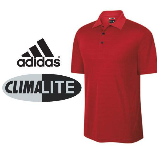Adidas Men's ClimaLite Textured Solid Polo