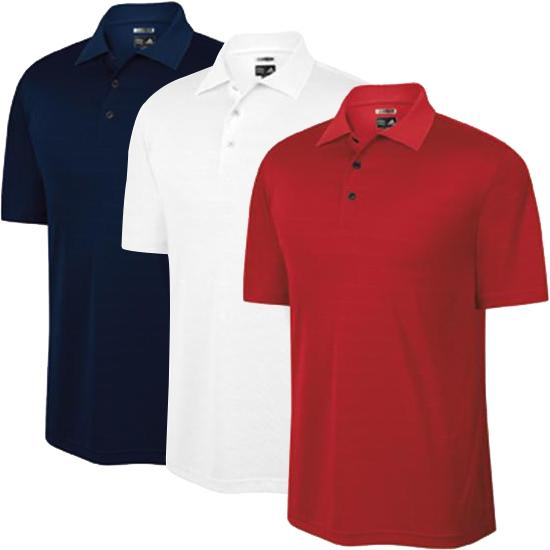 Adidas Men's Custom Logo Climalite Textured Solid Polo