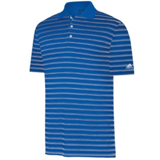 Adidas Men's ClimaLite Two-Color Stripe Polo