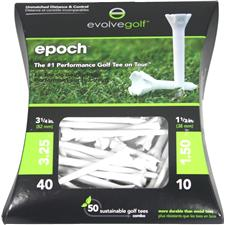 Evolve Golf Epoch Golf Tees - 40 CT 3-1/4 in