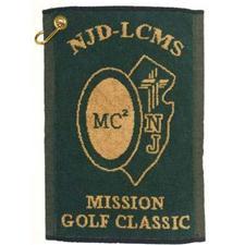 Logo Golf Custom Logo Hand Woven Jacquard Towel