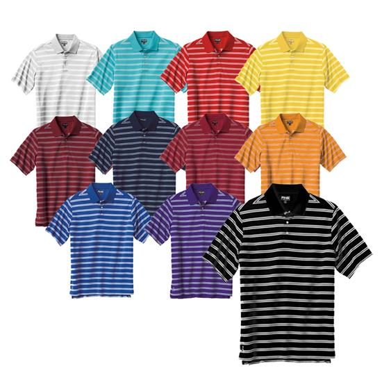 PING Men's Custom Logo Muni Stripe Polo