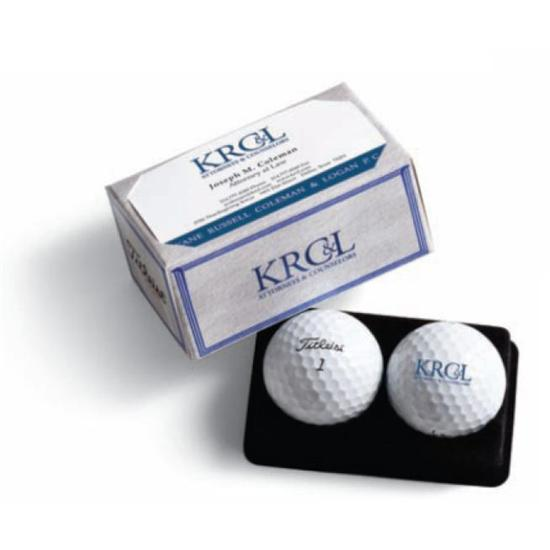 Titleist PackEdge Custom 2-Ball Business Card Box