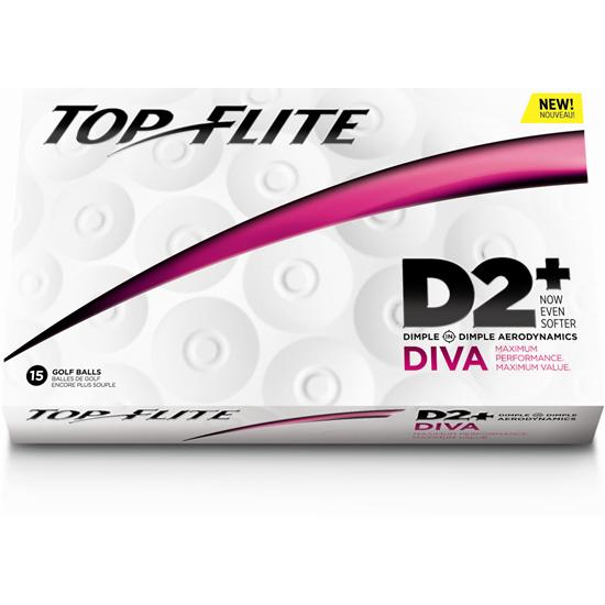 Top-Flite D2+ Diva Golf Balls