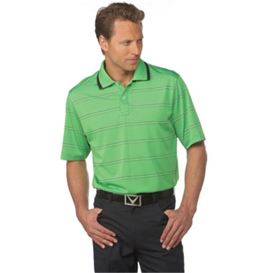 Callaway Golf Men's Chev Mesh Finestripe Polo