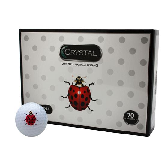 FL Golf Crystal Golf Balls - Lady Bug Logo