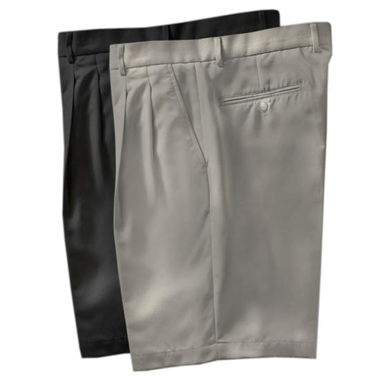 Greg Norman Men's Double Pleated Microfiber Shorts