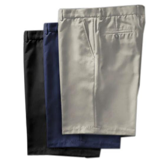 Greg Norman Men's Flat Front Microfiber Shorts