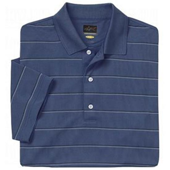 Greg Norman Men's Performance Micro Pique Multi Stripe Polo