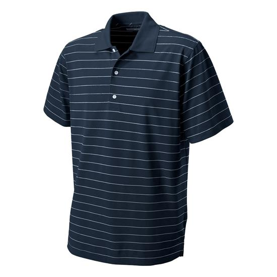Greg Norman Men's Performance Micro Pique Stripe Polo