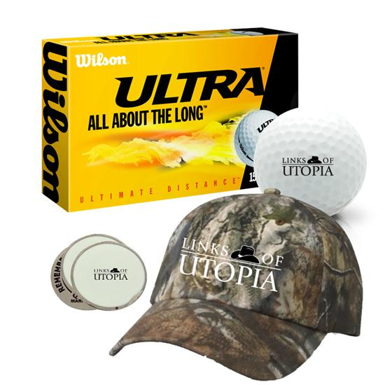 Links Of Utopia Men's Logo Camo Hat Bundle Pack