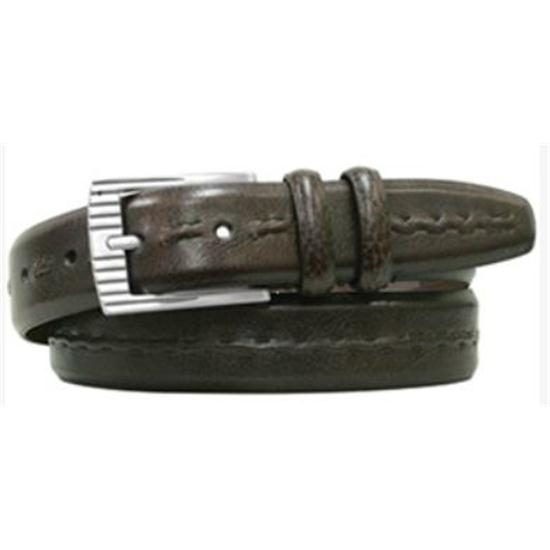 PING Burnished Leather Feather Edge Center Stitch Belt