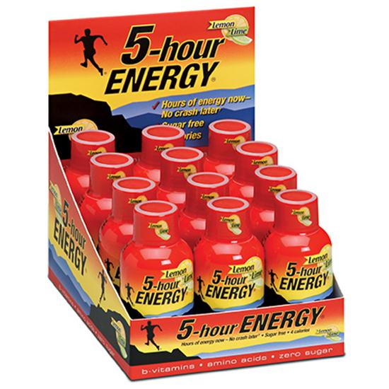5-Hour Energy Lemon-Lime Flavor - 12 Bottle Pack