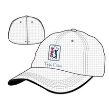 Greg Norman Men's Stretch Fit Performance Logo Hat
