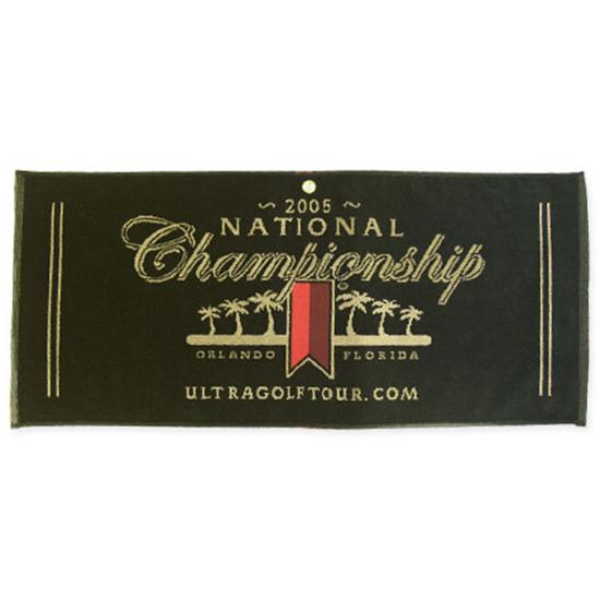 Logo Golf Woven Cotton Towel- Caddy