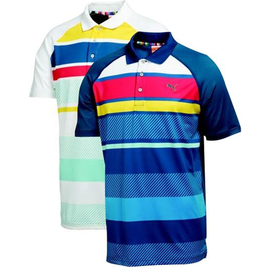 Puma Men's Raglan Stripe Tech Polo