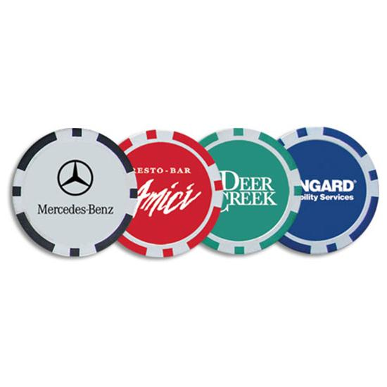 Logo Golf Poker Chip Ball Marker