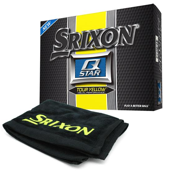 Srixon Q Star Tour Yellow Golf Balls with Free Tour Towel