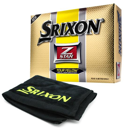 Srixon Z Star 2 Tour Yellow Golf Balls w/Free Tour Towel