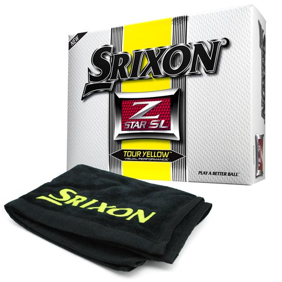 Srixon Z Star SL Tour Yellow Golf Balls w/Free Tour Towel