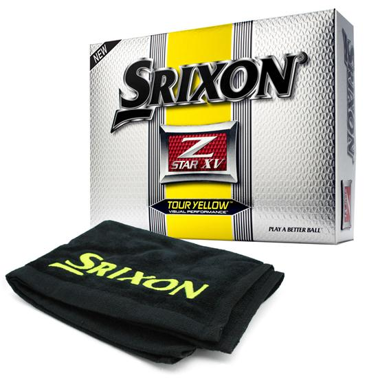 Srixon Z Star XV Tour Yellow Golf Balls w Free Tour Towel